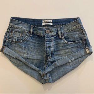 One Teaspoon Bandits Distressed Jean Shorts